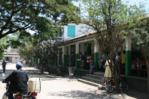 Outside Hôpital St. Thérèse, Hinche, Haiti